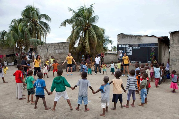Emily with Right to Play in Dar Es Salaam, Tanzania